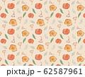 手描き水彩イラスト 花のパターンスウォッチ素材 62587961