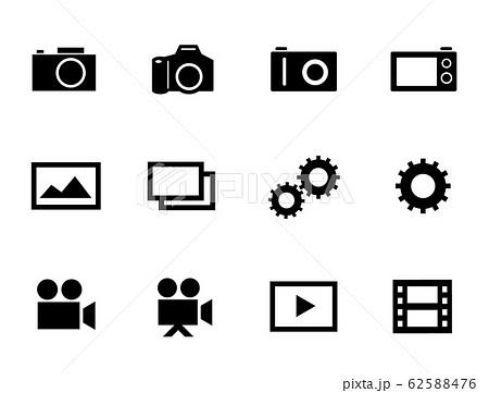 カメラ、写真、動画などのアイコンセット 62588476