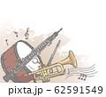 オーケストラ楽器がテーマの背景素材 62591549