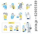 風邪の症状 セット 62605589