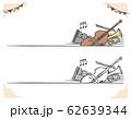クラシック音楽がテーマのラベル、バナー素材 62639344