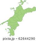 愛媛県の地図_市町村別 62644290