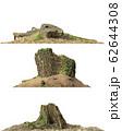 Stump dead tree isolated on white 3d illustration 62644308
