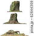 Stump dead tree isolated on white 3d illustration 62644309