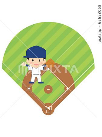 野球のショート 62653068