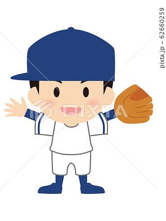 野球のピッチャー オールドスタイル 62660259