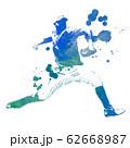 野球選手 ピッチャー 水彩画 62668987