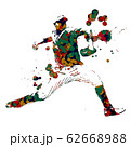 野球選手 ピッチャー 62668988