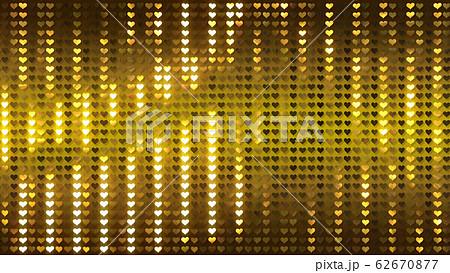 キラキラ ハート スパンコール カーテン メタル 背景 バックグラウンド 62670877