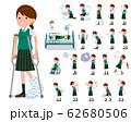 flat type school girl green vest summer_sickness 62680506