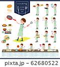 flat type school girl green vest summer_cooking 62680522