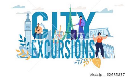 City Excursion Capital Letter and Tourist Design 62685837