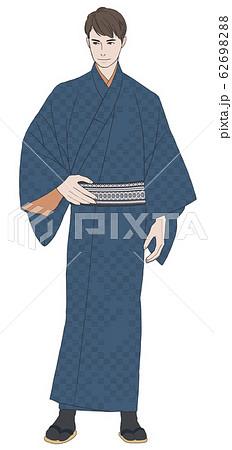 和服のイケメンのイラスト素材 6269