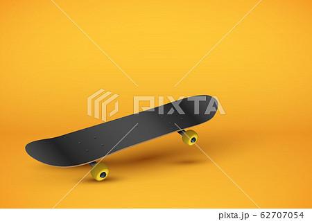 Skateboard on pastel orange background 62707054