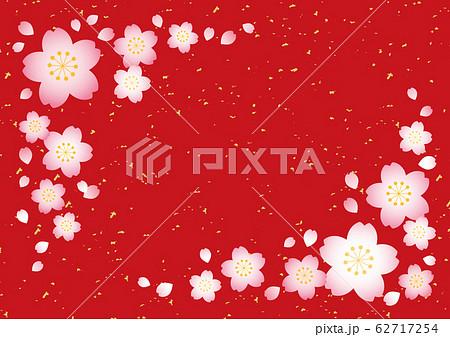 桜テクスチャ【和風赤】 62717254