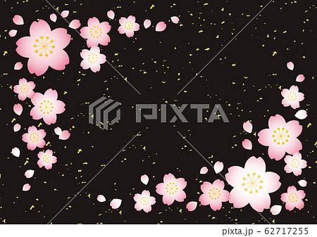桜テクスチャ【和風黒】 62717255
