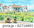 水彩画 志摩地中海村 62718865