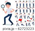 flat type school boy short sleeve summer_Action 62723223