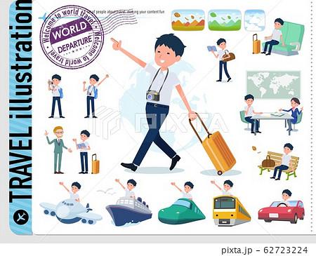 flat type school boy short sleeve summer_travel 62723224