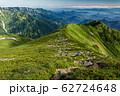 飯豊本山から見るダイグラ尾根と北方稜線 62724648