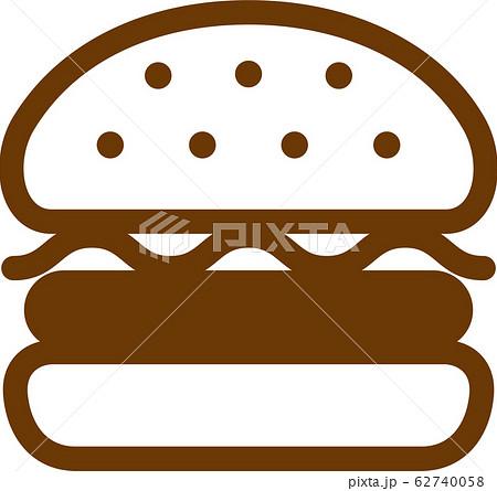 ハンバーガーアイコンイラスト 62740058