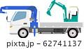 パワーショベルとクレーントラック 62741137