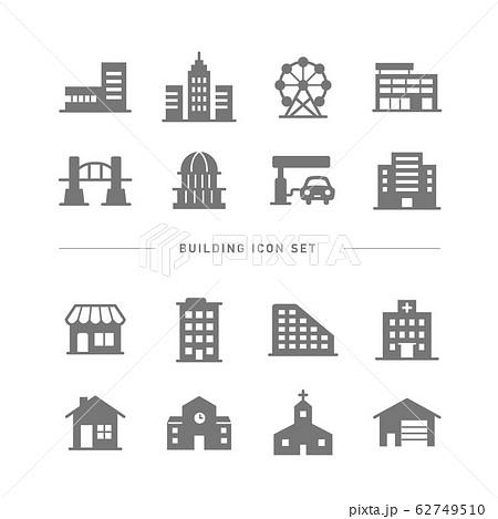 BUILDING ICON SET 62749510