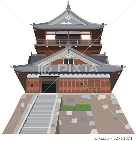 丸岡城イメージ 観光地イラストアイコン 62751071
