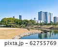 東京都 浜離宮恩賜庭園 横堀とビル群 62755769