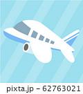 青い柄の飛行機 62763021