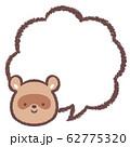 タヌキ吹き出し 62775320