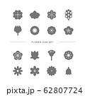 FLOWER ICON SET 62807724