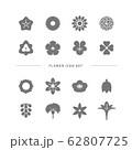 FLOWER ICON SET 62807725