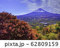 (山梨県)鳴沢村・紅葉台の紅葉と富士山 62809159