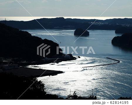 光る太平洋と浦戸湾(五台山より) 62814195