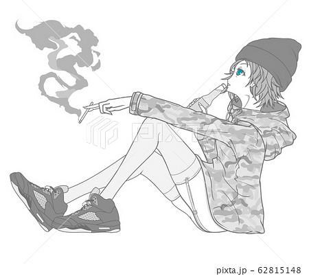 女の子(マウンテンパーカー・迷彩柄) 62815148