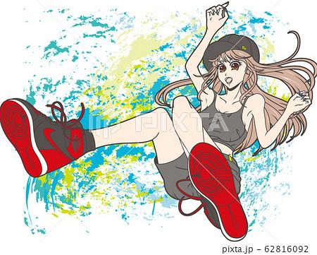 スニーカーを履いた女の子(背景) 62816092