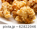 鶏肉の唐揚げのアップ。 62822046