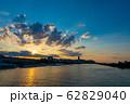 ハンガリー ドナウ川と夕焼け 62829040