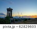 スコットランド エディンバラ カールトン・ヒル 夕焼け dugald stewart monumen 62829603