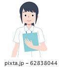 看護師 医療スタッフ カルテ 白衣 62838044