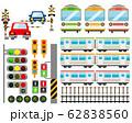 踏切 電車 列車 鉄道 アイコン 62838560