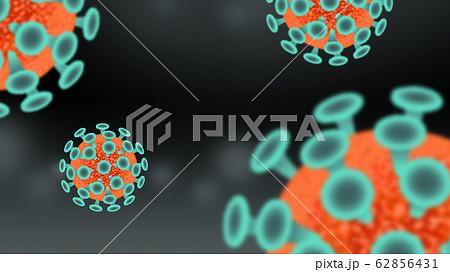 ウイルス 感染症 浮遊菌 背景素材 62856431