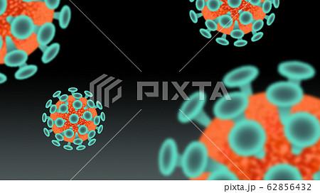 ウイルス 感染症 浮遊菌 背景素材 62856432