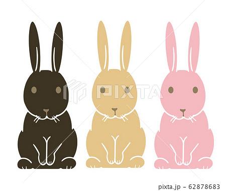 ウサギのイラスト 3色 62878683
