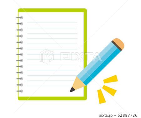 エンピツ 鉛筆 筆記用具 ノート  62887726