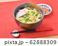 注意 )湯気は合成です。煮麺(にゅうめん、温かい汁の素麺、ソーメン、そうめん)かき玉汁。 62888309