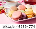 ティータイム マカロン 紅茶 洋菓子 お菓子 62894774