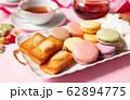 ティータイム マカロン 洋菓子 フィナンシエ マシュマロ スイーツ おやつ お菓子 62894775