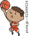 バスケット レイアップシュート 黒人 男子 62899524
